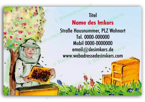 Imker Visitenkarten 0911 100