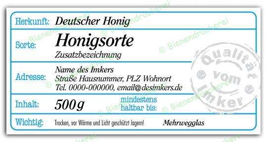Honigglas Etikett Motiv 205