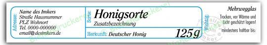 Honigglas Etikett Motiv 205 125g Twist-Off   150