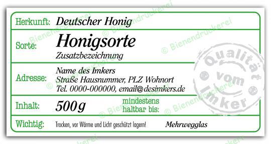 Honigglas Etikett Motiv 207