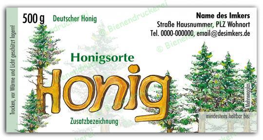 Honigglas Etikett Motiv 2340