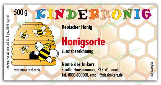 Honigglas Etikett Motiv 005