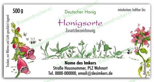 Honigglas Etikett Motiv 020