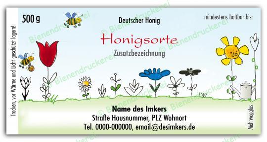 Honigglas Etikett Motiv 021 500g klassisch | 75