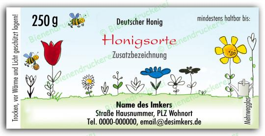 Honigglas Etikett Motiv 021 250g klassisch | 50