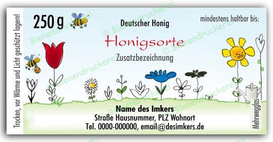 Honigglas Etikett Motiv 021 250g Twist-Off   50