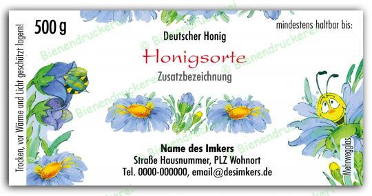 Honigglas Etikett Motiv 022 500g Twist-Off | 50