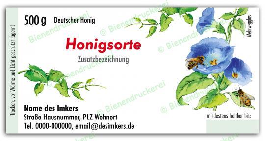 Honigglas Etikett Motiv 024