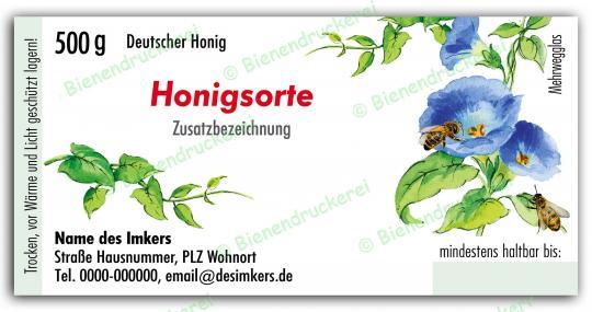 Honigglas Etikett Motiv 024 500g Twist-Off   500