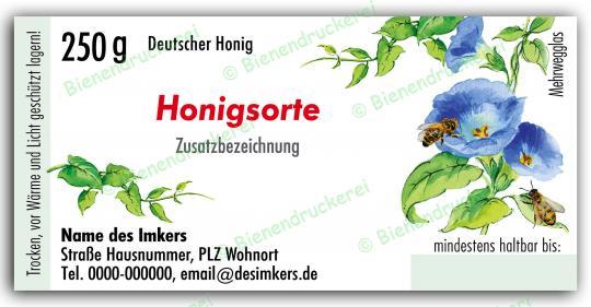 Honigglas Etikett Motiv 024 250g Twist-Off | 100