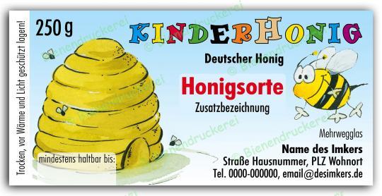 Honigglas Etikett Motiv 026 250g klassisch | 250