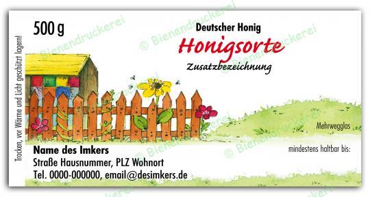 Honigglas Etikett Motiv 028 500g klassisch | 50