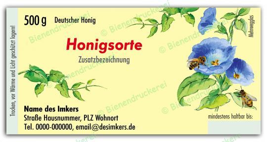 Honigglas Etikett Motiv 029