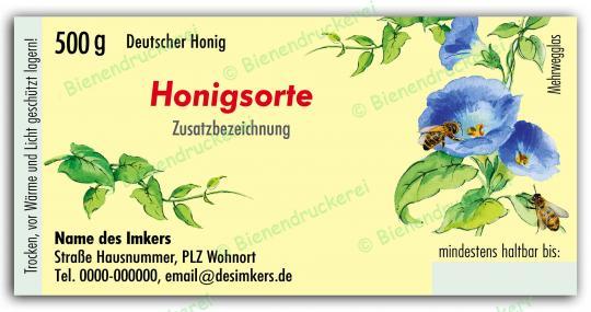 Honigglas Etikett Motiv 029 500g Twist-Off | 500