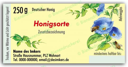 Honigglas Etikett Motiv 029 250g Twist-Off   100