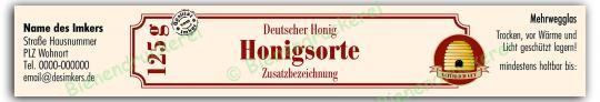 Honigglas Etikett Motiv 030 125g Twist-Off | 100