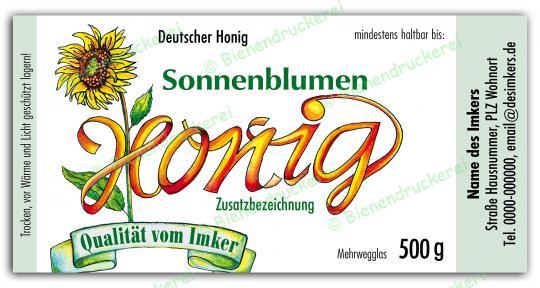 Honigglas Etikett Motiv 031