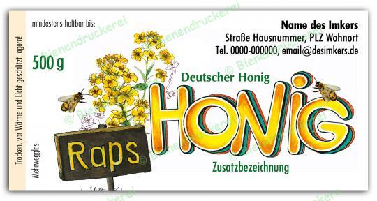 Honigglas Etikett Motiv 033