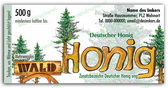 Honigglas Etikett Motiv 034 500g Twist-Off | 150
