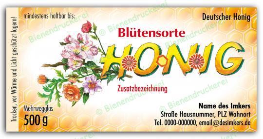 Honigglas Etikett Motiv 036 500g Twist-Off   250