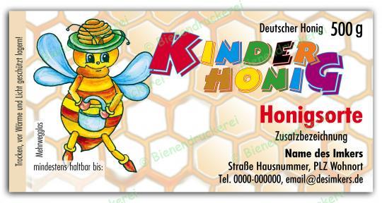 Honigglas Etikett Motiv 039