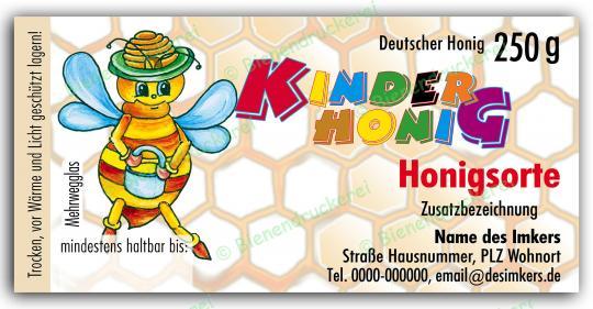Honigglas Etikett Motiv 039 250g Twist-Off | 25