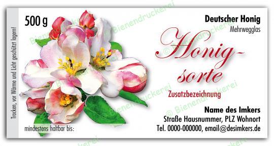 Honigglas Etikett Motiv 040