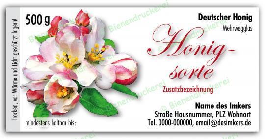 Honigglas Etikett Motiv 040 500g Twist-Off   150