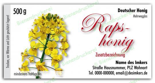 Honigglas Etikett Motiv 041
