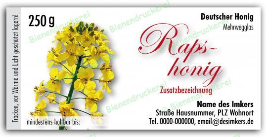 Honigglas Etikett Motiv 041 250g klassisch   100