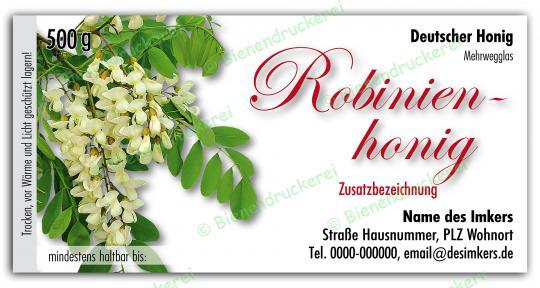 Honigglas Etikett Motiv 047 500g klassisch | 75