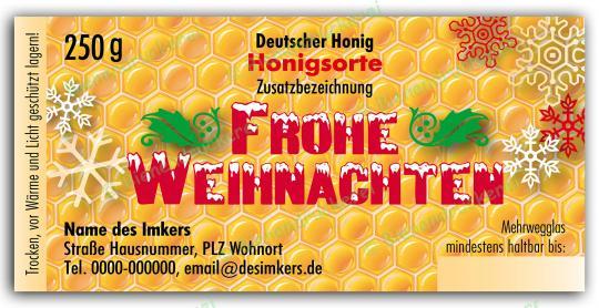 Honigglas Etikett Motiv 060 250g klassisch   100