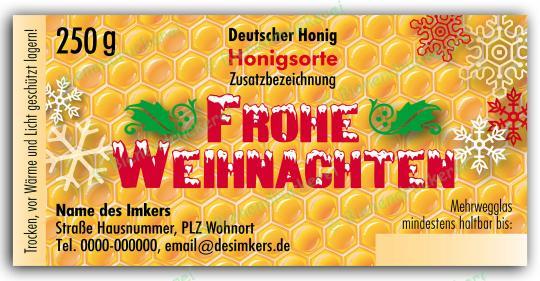 Honigglas Etikett Motiv 060 250g Twist-Off   50