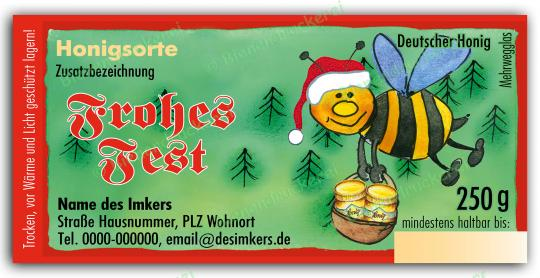 Honigglas Etikett Motiv 061 250g klassisch | 25