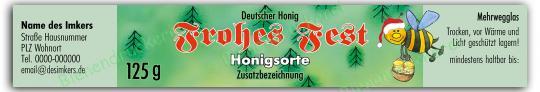 Honigglas Etikett Motiv 063 125g Twist-Off | 75