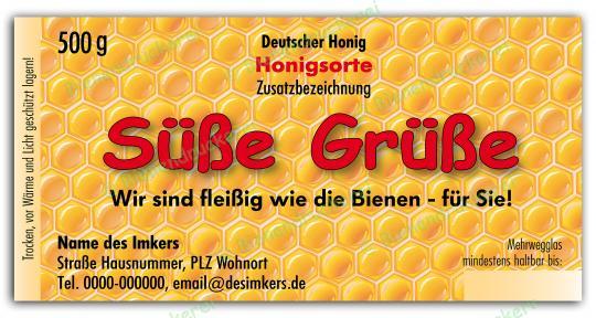 Honigglas Etikett Motiv 064