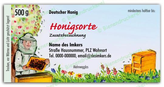 Honigglas Etikett Motiv 065