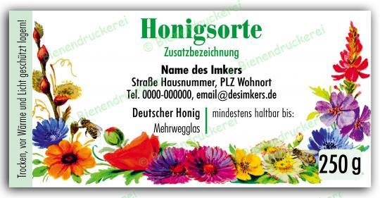 Honigglas Etikett Motiv 066 250g Twist-Off | 100