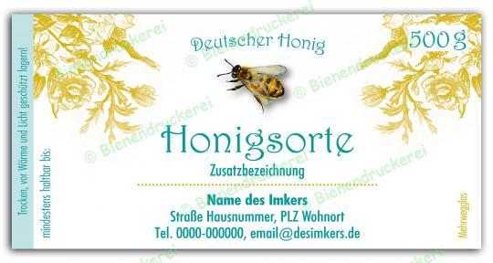 Honigglas Etikett Motiv 068
