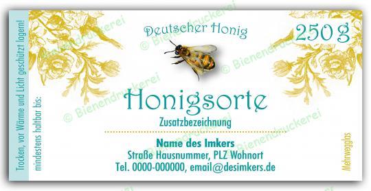 Honigglas Etikett Motiv 068 250g klassisch | 50