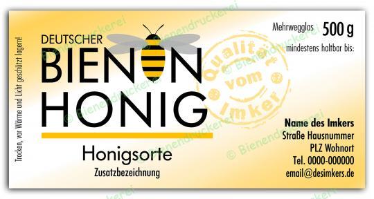 Honigglas Etikett Motiv 070