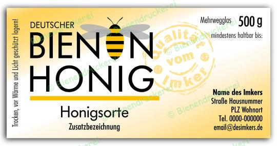 Honigglas Etikett Motiv 070 500g Twist-Off | 250