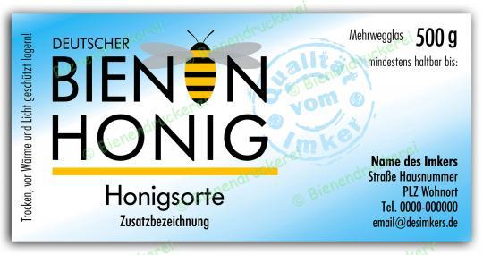 Honigglas Etikett Motiv 071 500g Twist-Off | 100