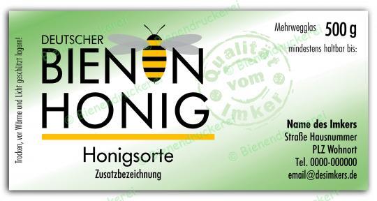 Honigglas Etikett Motiv 072