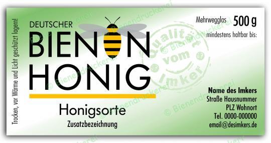 Honigglas Etikett Motiv 072 500g Twist-Off | 75