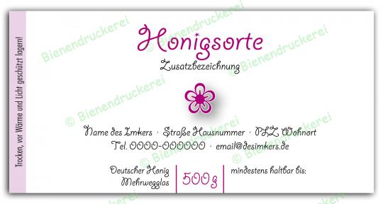 Honigglas Etikett Motiv 073