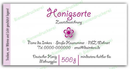 Honigglas Etikett Motiv 073 500g Twist-Off | 100