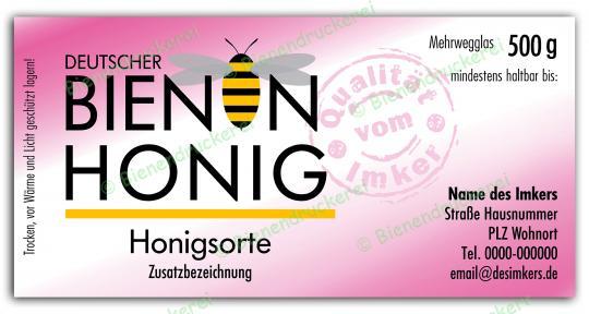 Honigglas Etikett Motiv 075