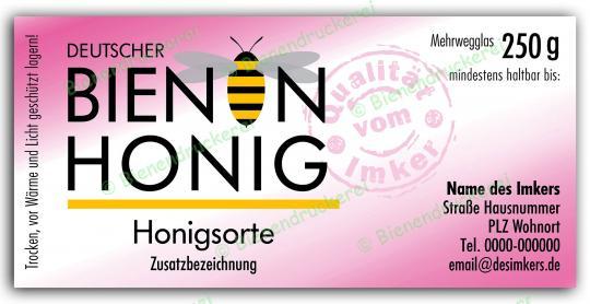 Honigglas Etikett Motiv 075 250g klassisch | 100