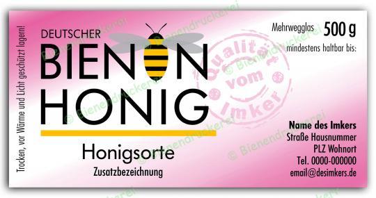 Honigglas Etikett Motiv 075 500g Twist-Off | 50